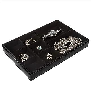 Richards Homewares 首饰收纳盒,8 格无环架,黑色