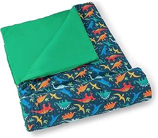 Wildkin 男童女童睡袋,尺寸为 137 x 76.2 x 3.5 英寸(约 137.6 x 76.2 x 3.8 厘米),尺寸完美适合派对、露营和过夜旅行,棉混纺材料睡袋,不含双酚 A (侏罗纪恐龙)