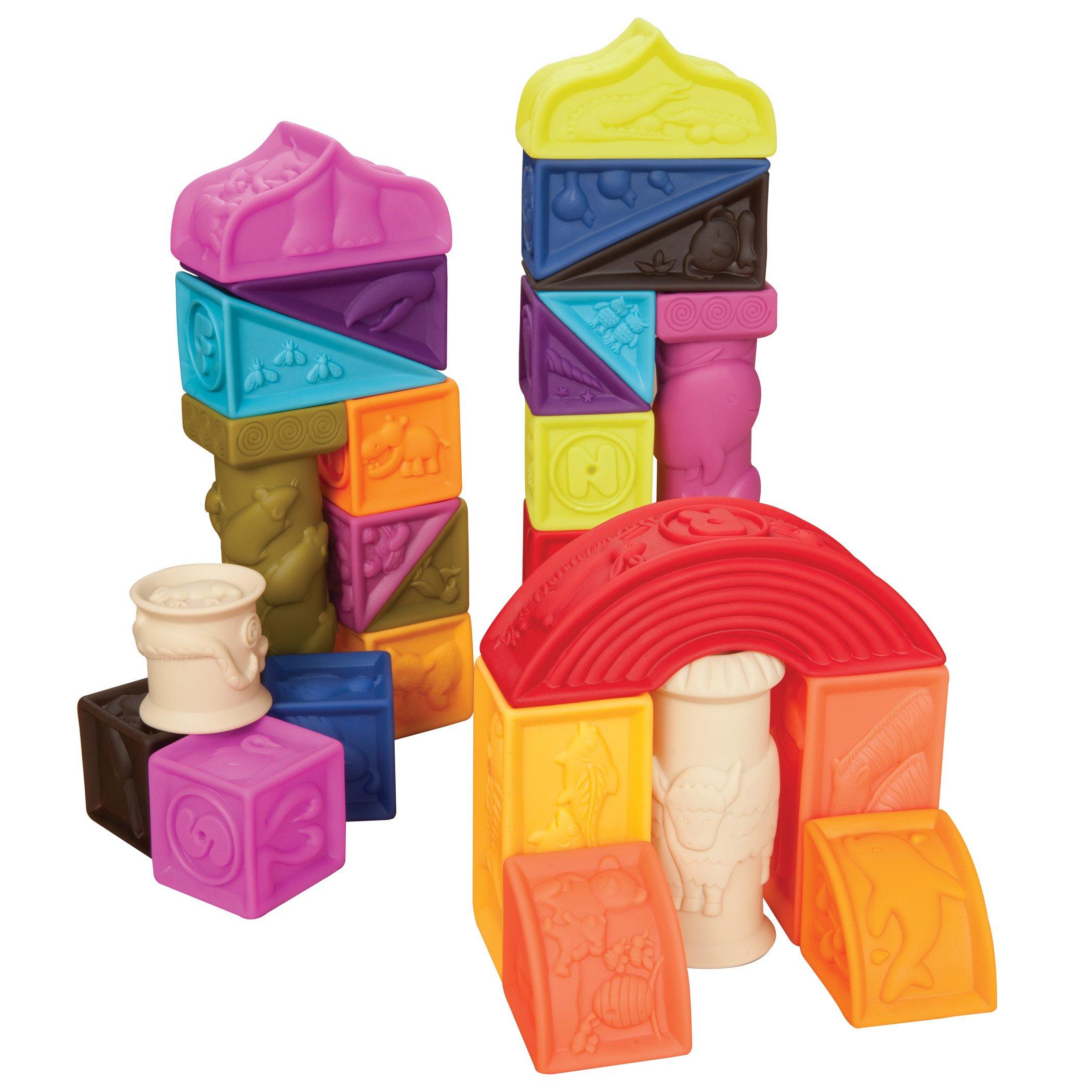B.Toys Elemenosqueeze A到Z建筑积木块