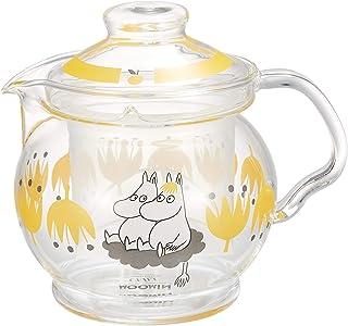 山加商店 茶壶 透明 460ml 姆明 玻璃 V型壶 小熊图案 MM1001-GV2