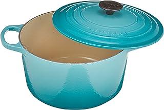 Le Creuset 酷彩 24cm 圆形铸铁锅具/炖锅 天蓝色