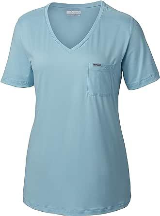 Columbia 女式卷轴休闲口袋 T 恤 X大码 蓝色 1832121-451-X-Large