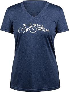 Louis Garneau 女士咖啡骑行自行车 T 恤(M 码,蓝色)