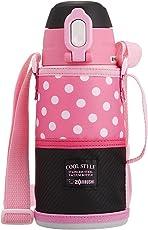 ZOJIRUSHI 象印 不锈钢保温杯 0.6L 粉色黑色 SD-JK06-BP
