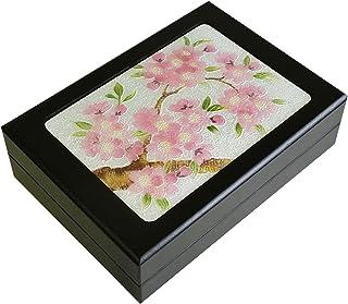 彩光舍 七宝烧 小盒子(明信片) 新樱(大) 020-23