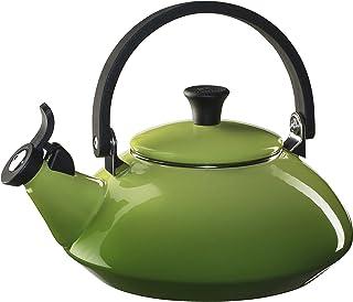 Le Creuset Enameled Steel Zen Tea Kettle, 1-2/3-Quart, Palm