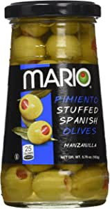 Mario Camacho Foods Manzanilla Olives Stuffed with Minced Pimiento, 5.75 Ounce (Pack of 12)