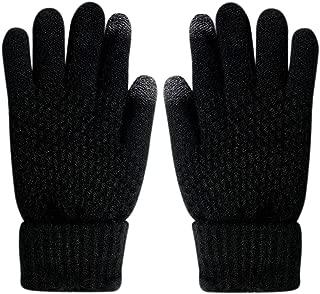 Glove us 针织触屏手套温暖冬季加厚手套纹理中性款适用于 iPhone 智能手机笔记本电脑平板电脑