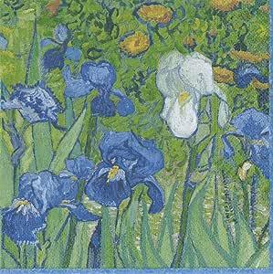 Caspari Van Gogh 鸢尾纸餐巾 * Luncheon 13670L