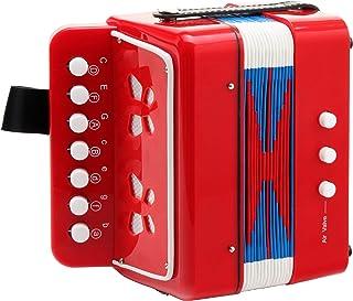 Classic Bambino ROSSO 儿童手风琴(3岁起,带7个琴键,2个贝司,红色)