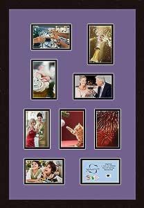 Art to Frames 双倍多衬垫-235-849/89-FRBW26061 拼贴框架照片垫双衬垫带 9 个 - 4x6 开口和Espresso 框架