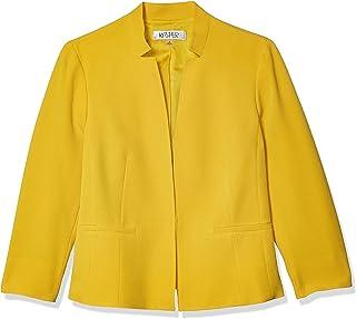 Kasper 女士弹力绉绸立领夹克