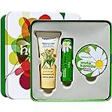 Herbacin 小甘菊 纪念礼盒A款 (铁盒装,经典圆罐手霜20ml+洗面奶20ml+唇膏4.8g)(进)