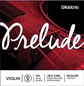 D'Addario 达达里奥 Prelude 中等张力 3/4 小提琴 D 弦单弦 J813 3/4M