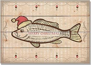 Gizaun Art Merry Christmas Fish 室内/室外墙壁艺术 20x14 粉红色 WMCF2014