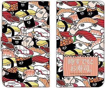 时已经寿司。 保护套薄款印花翻盖寿司充满手机保护壳翻盖式适用于所有机型  寿司いっぱいB 21_ Kyocera S301