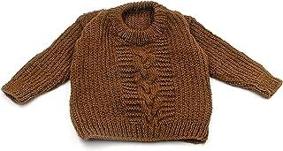 魔法针手工针织男婴新生儿冬天羊毛长袖毛衣套头开衫
