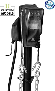 Trailersphere 智能盖定制电动舌头插孔盖适用于拖车、房车、露营车、链条支架、插头保护、*防水 RAM Jack Cover 黑色 CCALL