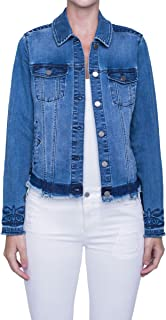 Liverpool 女式衬衫夹克,迷人刺绣