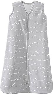 HALO SleepSack 纯棉宝宝可穿式防踢被毯 粉色字母 小码 Grey Birds 中