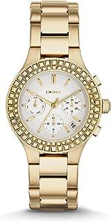 DKNY Chambers 金色不锈钢计时码女士手表 #NY2259