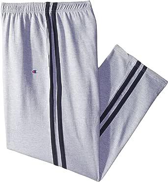 Champion 男式加大加长开底部双条纹羊毛运动裤 Heather Grey/Navy 3X