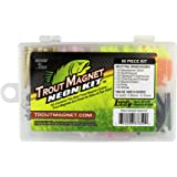 Trout Magnet Neon Kit - 70 Grub Bodies and 15 Size 8 Hooks