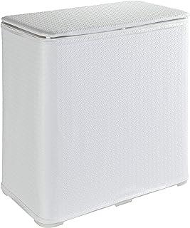 Wenko 洗衣柜 49X27X50 65 L 容量,PVC,白色,27 x 49 x 50 cm