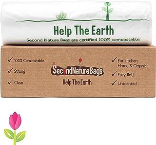 Second Nature 袋,优质认证 * 可降解,超厚,厨房食品废料和家庭垃圾袋 3 Gallon 1.00