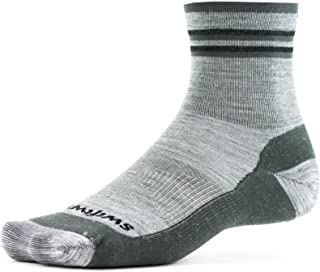 Swiftwick- PURSUIT HIKE FOUR- UL   袜子专为越野跑步和远足设计   美利奴羊毛,轻质缓震,四分之一圆领