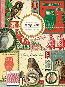 Cavallini纸4张包装,圣诞鸟