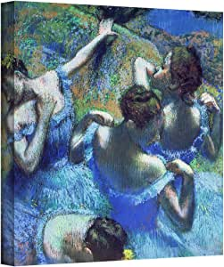 Art Wall 'Blue Dancers' Gallery-Wrapped Canvas Artwork by Edgar Degas, 18 by 18-Inch
