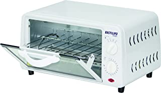 Bastilipo Pisa – Mini 烤箱烤炉带容量, 9 L, 通风格栅汽车可拆卸, 800 W, 白色