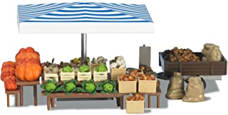 Busch 1070 仿真蔬菜市场摊位模型 HO 结构比例模型