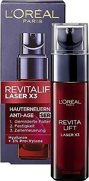 L'Oréal Paris 巴黎欧莱雅 Revitalift Laser X3 复颜光学嫩肤精华 含玻尿酸 滋润并明显修复皱纹,30 ml