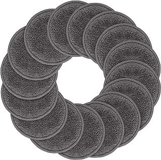 Sunland 可重复使用卸妆垫,适用于脸、眼、嘴唇,16 只装超细纤维洁面手套,可洗涤,带有洗衣袋和旅行袋圆形爽肤垫 round 3.15inchx16