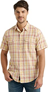 Lucky Brand 男式短袖纽扣双口袋 Palisade 工作服衬衫