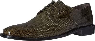 Stacy Adams 男式 Gatto 皮革鞋底开普托牛津鞋 橄榄色 9.5 W US