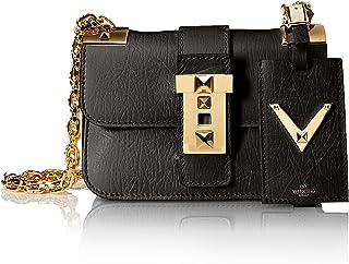 Valentino 女士鏈條肩帶包,黑色