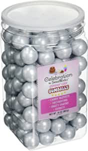 Sweetworks Gumballs 罐 Shimmer Silver 34 oz 192678