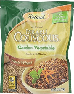 Roland Israeli Couscous, Whole Wheat Garden Vegetable, 6.3 Ounce
