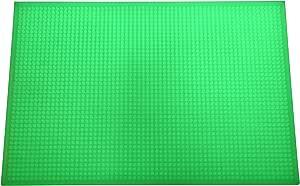 KTV Bar Pad PVC Long Dish Dying Mat Milk Tea,Water Insulation,Rectangular Drain Cup Drainer Mat Fluorescence 11.7 IN x 17.5 IN