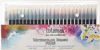 LOTAMAK 真正的画笔,48 种颜色,适用于水彩绘,带有柔性尼龙画笔,涂色笔,书法和绘画带水刷,适合艺术家和初学者画