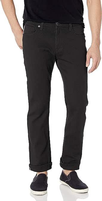 Southpole 男士弹性基本斜纹冲洗牛仔裤 黑色 32W x 32L