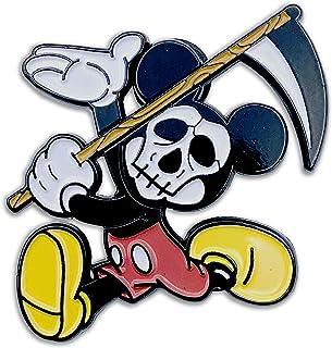 Wasted Days Mickey Mouse Grim Reaper: Scythe Trendy Novelty 珐琅翻领别针