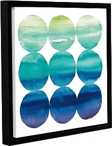 "ArtWall Elyse DeNeige's Summer Dots III Gallery Wrapped Floater Framed Canvas, 14"" x 14"""