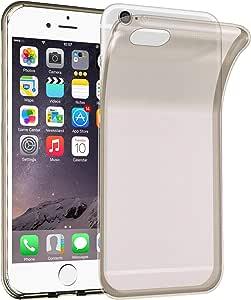Cadorabo 手机壳适用于苹果 iPhone 6 / iPhone 6S 超薄 TPU 硅胶外壳(设计AIR) - 防震防刮凝胶外壳保护壳 保险杠皮肤后盖DE-106591 TRANSPARENT-BLACK
