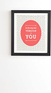 Deny Designs Allyson Johnson Be The Best Version Of You 带框墙壁艺术,35.56 厘米 x 41.91 厘米