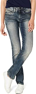 G-Star RAW 女式中腰马鞍直筒牛仔裤