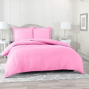 nestl 床上用品羽绒被套,保护和套子 YOUR 被子 / 被套插入,奢华超软超细纤维,3件羽绒被套装包括2个枕头套枕套